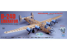 "Guillows 2003 B-24D Liberator Giant Balsa Wood Kit 48"" Wing Span Tracked 48 Post"