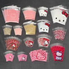 Lot 80 Self Seal Hello Kitty Cello Storage Bags Clear Plastic Gift Cellophane