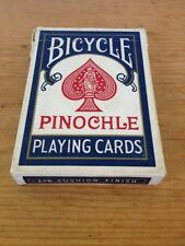 Vintage USA Made Bicycle Pinochle US Playing Card Deck Air Cushion Playing Cards