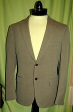 NWT ISAIA NAPOLI men 2 button light brown wool cotton suit 50C (short) 40S ITALY