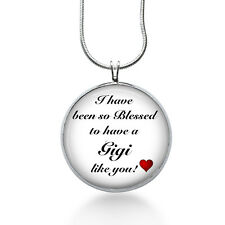 Blessed Gigi Necklace - Family Jewelry - Handmade - Art Pendant