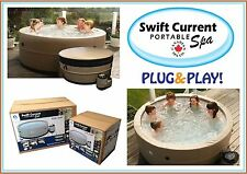 Swift Current 5 PERSON SPA HOT TUB   Foam Wall -Air Bubble Massage Jet Brown Tan