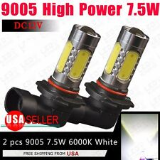 2x 9005 HB3 High Power 7.5W White Projector Fog Driving DRL LED Light Lamps