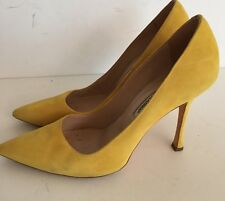 Manolo Blahnik Yellow Suede BB 105 Pumps Size 41