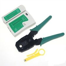 Crimping Tool for RJ45 RJ12 RJ11 + Lan Tester for RJ45 RJ11 Combo Offer