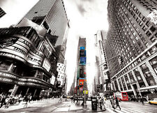Photo Wallpaper Wall mural Times square Vintage New York black decor for bedroom