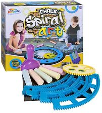 Grafix Chalk Spiral Art Childrens Pavement Spirograph Graffiti Set Art 16-7007
