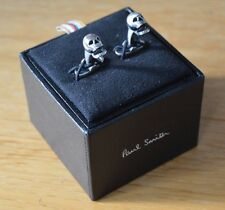 PAUL SMITH silver Moving Jaw Skull skelton cuff links cufflinks