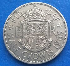 1965 QUEEN ELIZABETH II CIRCULATED HALF CROWN COIN