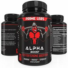 Alpha Boost Testosterone Booster for Strength and Energy, Over The Counter Male