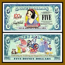 "Disney 5 Dollars, 2002 ""D"" Series Snow White Uncirculated"