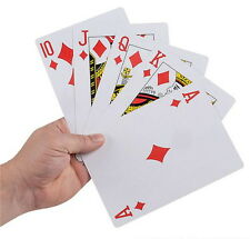 """GIANT SUPER JUMBO 5"""" X 7"""" PLAYING CARDS NICE QUALITY LARGE HUGE PARTY GOODY BAG"""