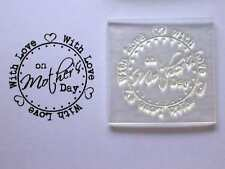 With Love on Mother's Day Clear Circle Stamp to Make / Personalise Cards