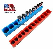 Mechanics Time Saver 3/8 Drive Magnetic Deep Socket Holder Tray Metric SAE MTS