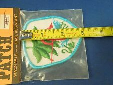 Vintage Swiss Brand Vermont Souvenir Ski Skiing Embroidered Sew On Patch Flawed