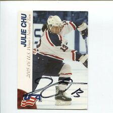 Julie Chu US Olympic Bronze Silver Medal Hockey Team Signed Autograph Photo Card