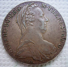 antique silver coin 1780 Theresia S.F. MARIA THERESA SILVER THALER