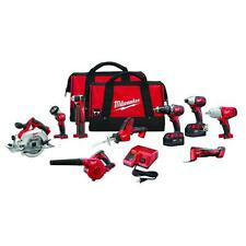 Milwaukee 2695-29 M18 18V Cordless Combo Kit (9-Tool) Drill Saw Grinder - NEW !