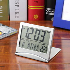 New Desk Digital LCD Thermometer Calendar Alarm Clock flexible White Cover FT