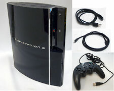 EARLY 3.41 FIRMWARE Sony PS3 80GB HDMI Video Game System Console tower CECHH01
