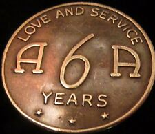 Alcoholics Anonymous 6 Year AA Medallion Token Chip Coin Recovery Sober Sobriety