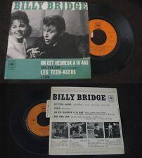 BILLY BRIDGE - On Est Heureux A 16 Ans Rare French EP Rock Sixtes Avec Languette