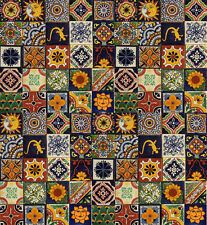 "100 Mexican Talavera Ceramic Tiles 4"" MIXED"