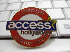USA MEDIA PIN BADGE LONDON 2012 OLYMPICS  ACCESS HOLLYWOOD DATED PIN BADGE RARE