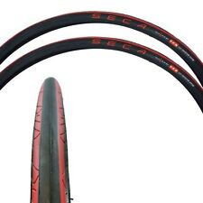 Serfas Seca 700x25 Road Bike Tire Combo-2 Pack-Wire Bead-Bicycle-Red-New