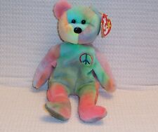 RARE TY BEANIE BABY PEACE BEAR ORIGINAL WITH TAG ERRORS COLLECTIBLE