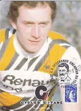 CYCLISME carte cycliste BERNARD BECAAS équipe RENAULT cycles GITANE 1980