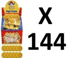 144 Gold Pirate Plastic Coins Treasure Party/Loot Bag Pinata (12 Bags Of 12) UK