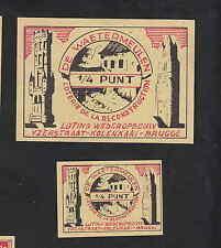 Ancienne  étiquette allumettes  Belgique  BN8126 Loterie de reconstruction