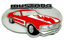 Ford Mustang Belt Buckle Officially Licensed Siskiyou Product Red Muscle Car