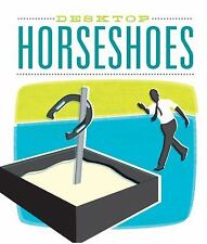 NEW Desktop Horseshoes With 32 Page Book Mini Plastic Pit, Stake, 4 shoes, sand
