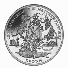 Isle of Man Matthew Flinders Crown Coin (AG84)