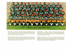 1971 GREEN BAY PACKERS  8X10 TEAM PHOTO STARR LAST YEAR FOOTBALL WISCONSIN USA