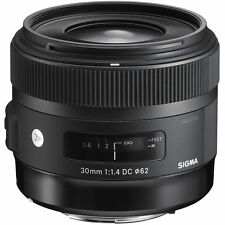 Sigma 30mm f1.4 DC HSM Art Lente Per Nikon AF Fit (UK stock) nuovo con scatola