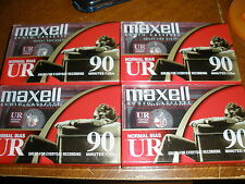 Lot of 4 New Maxell Normal Bias UR 90 Minute Cassettes