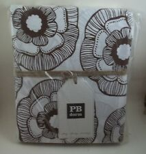 POTTERY BARN TEEN MINI FLEUR TWIN DUVET COFFEE BROWN PBTEEN KIDS DORM #137