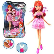 Winx Club - Magic Lab Puppe - Fee Bloom & Nagel Styles Set - Staffel 7
