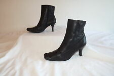 DOROTHY PERKINS ~ LADIES BLACK SOFT LEATHER STITCH DESIGN ANKLE BOOTS ~ SIZE 5