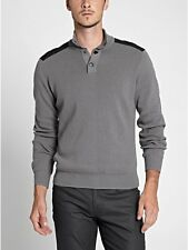New G by Guess Mens Mock Sweater Grey Size M NWT