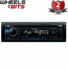NUOVO Kenwood KDC-200UB CD MP3 Stereo auto USB Aux iPod iPhone Direct Controllo