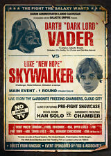 "A3 alternative Star Wars ""POSTER (Blu-Ray DVD LUKE SKYWALKER DARTH VADER)"