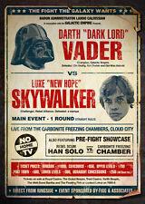 A4 alternativa STAR WARS MOVIE POSTER (Blu-Ray DVD LUKE SKYWALKER DARTH VADER)
