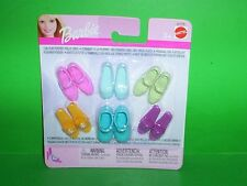 Mattel Barbie Shoes for Flat Foot Dolls Jazzie Flat Footed NIP Sandals Mary Jane