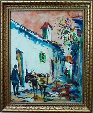Vintage Signed Mystery Artist Abstract Expressionist Oil Painting