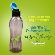 Tupperware water Aquasafe Bottle- 750 ml-- 4 pc BLACK FLiptop cap RAKHI OFFER