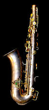 True WWI Vintage 1900 King HN White Saxophone Low Pitch SN  56424 Case 00301010